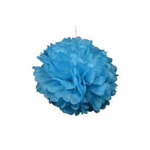 Pompón de Papel 20cm, azul claro