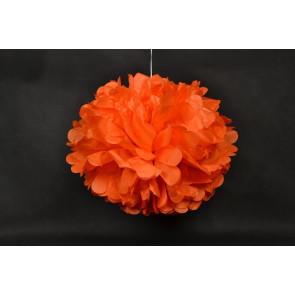 Pompón de Papel 40cm, naranja