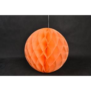 Bola de papel nido de abeja 30cm Naranja