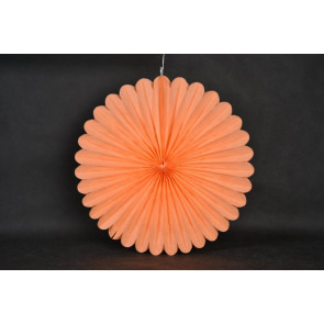 Abanico / roseta de papel 20cm naranja
