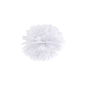Pompón de Papel 20cm, blanco