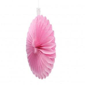 Abanico / roseta de papel 20cm rosa