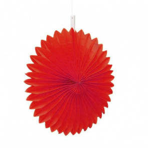 Abanico / roseta de papel 20cm rojo