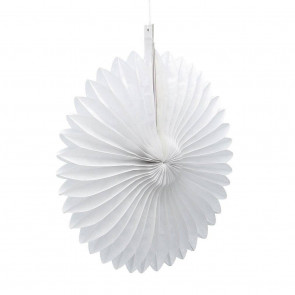 Abanico / roseta de papel 20cm blanco