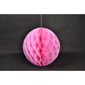 Bola de papel nido de abeja 30cm Rosa
