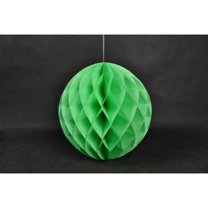 Bola de papel nido de abeja 20cm Verde
