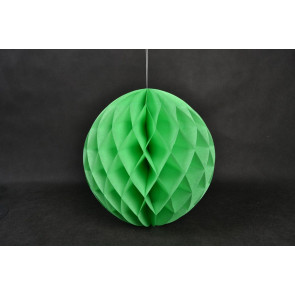 Bola de papel nido de abeja 40cm verde