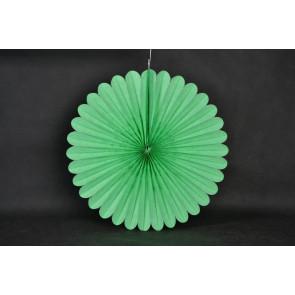 Abanico / roseta de papel 20cm verde