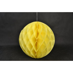 Bola de papel nido de abeja 20cm Amarillo