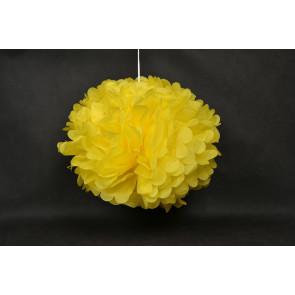 Pompón de Papel 50cm, amarillo