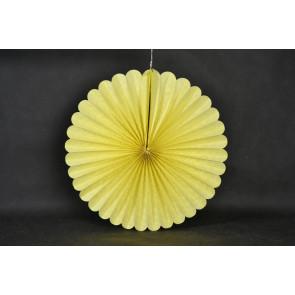 Abanico / roseta de papel 40cm amarillo